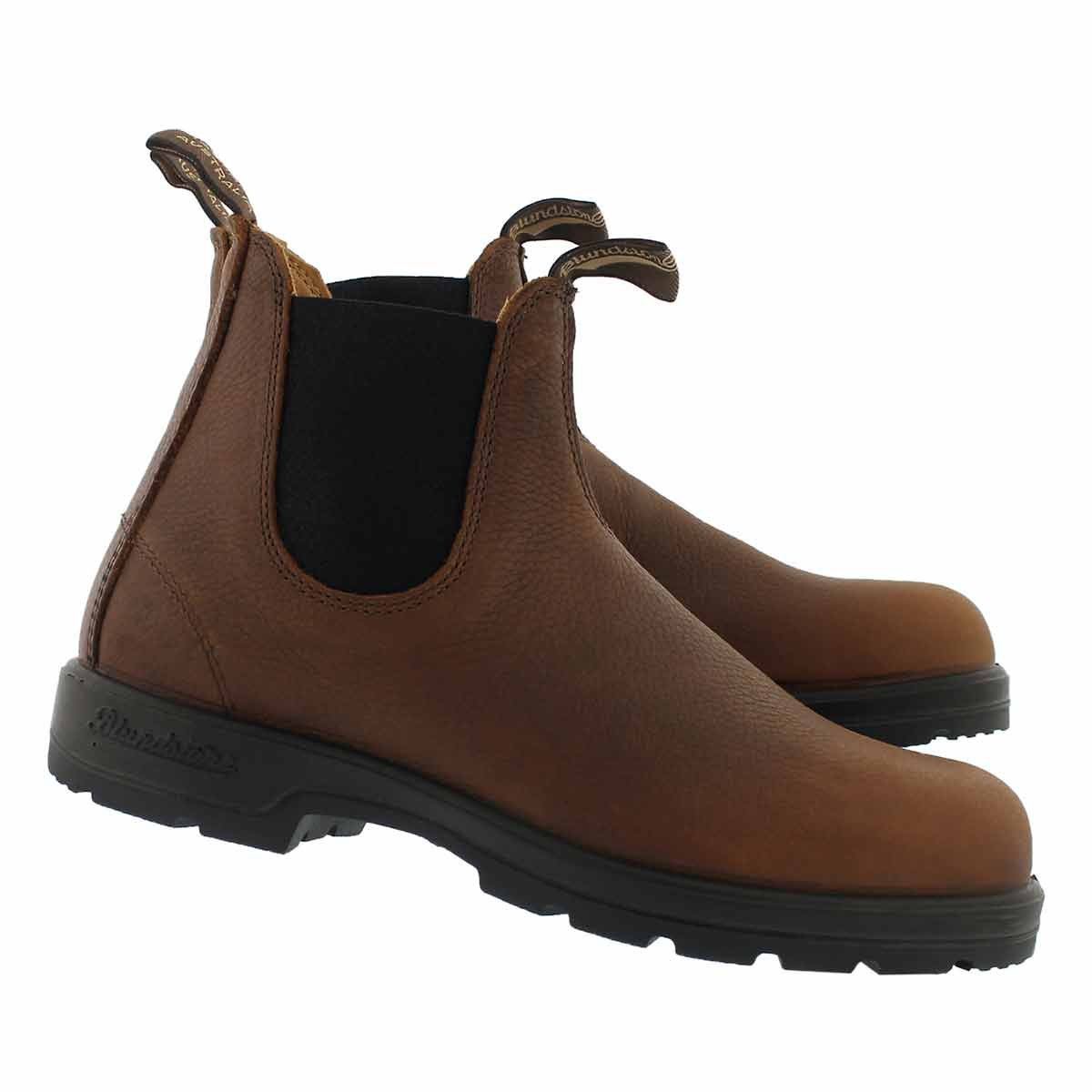Mns Lthr Lined pebble brn twin gore boot