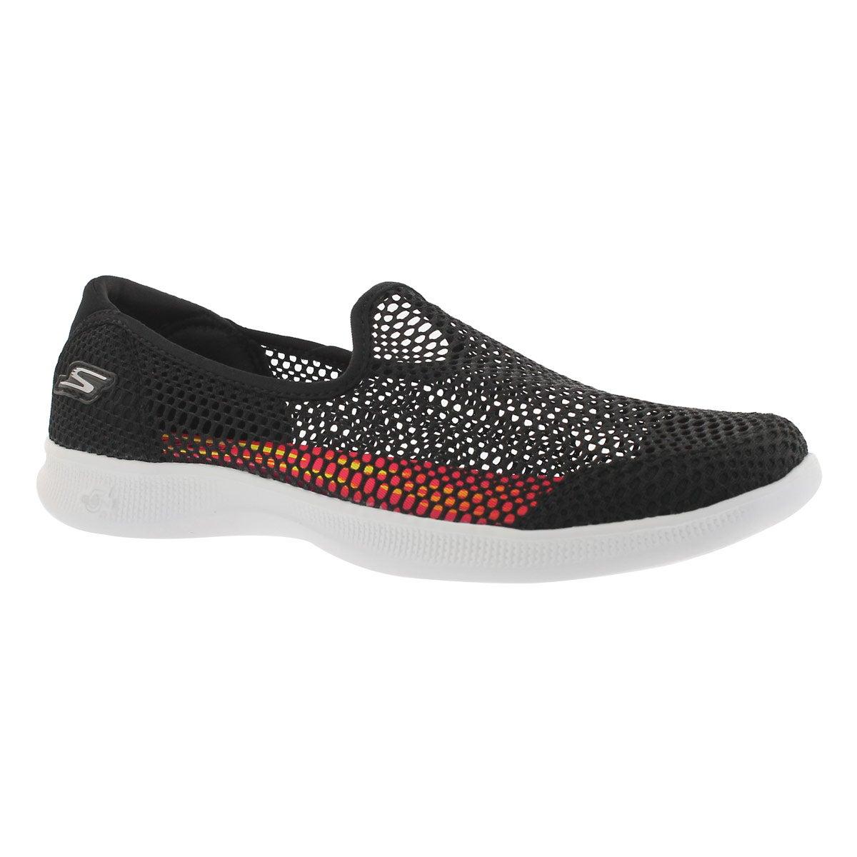 Women's GO STEP LITE WISPY black walking shoes