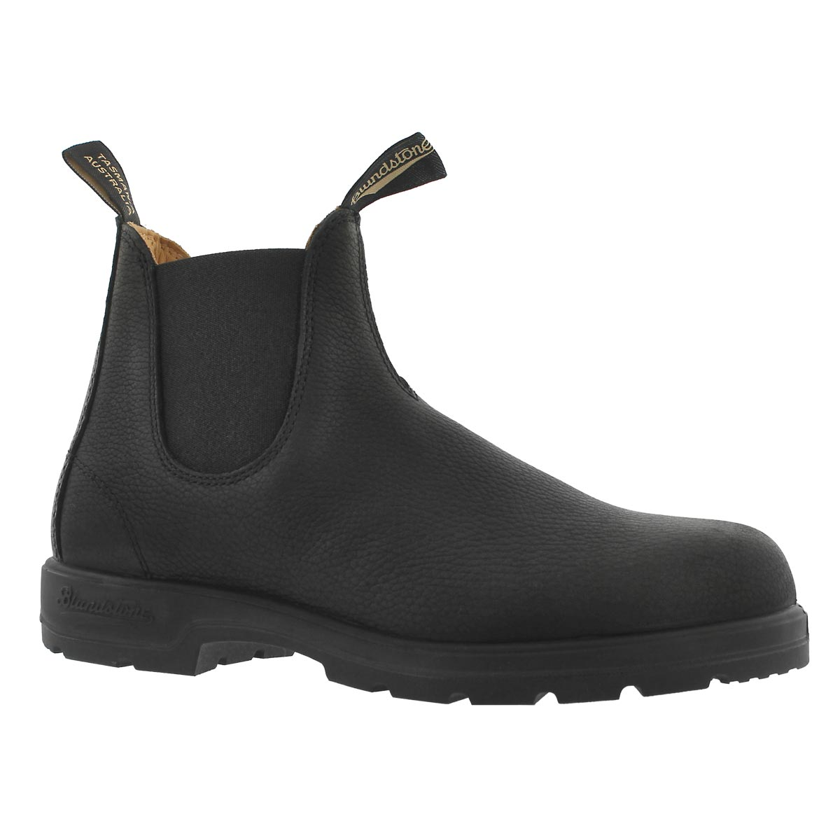 Mns Lthr Lined pebble blk twin gore boot