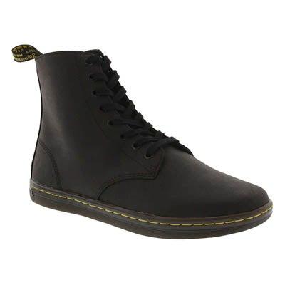 Dr Martens Men's TOBIAS black 8-Eye casual boots