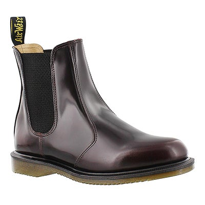 Dr Martens Women's FLORA red pull on chelsea boots