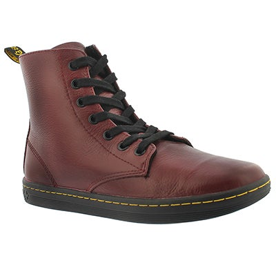 Dr Martens Women's LEYTON cherry ankle booties