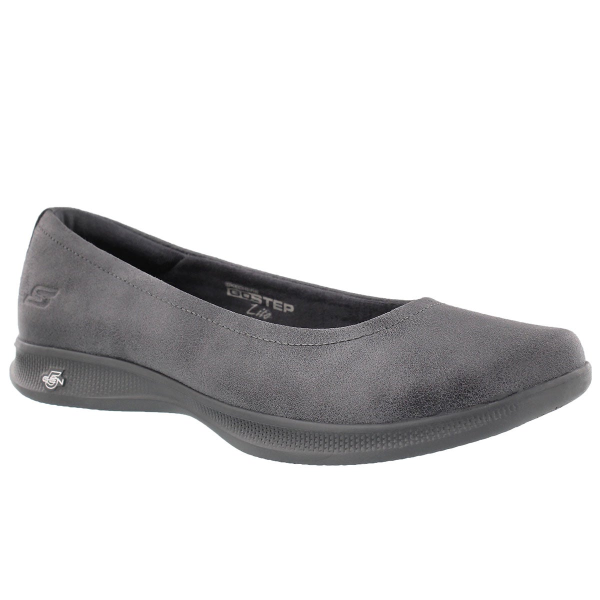 Lds GO Step Lite charcoal casual flat
