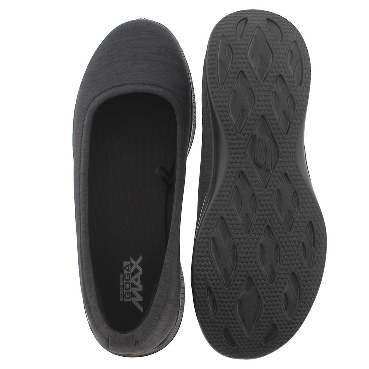 Lds GOStepLite blk space dye casual flat