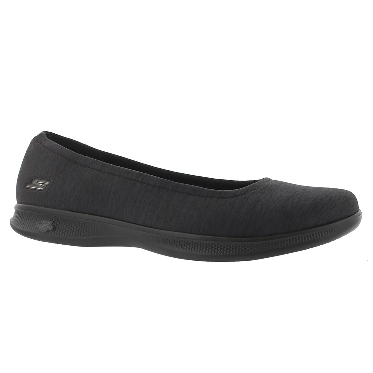 Women's GOstep LITE black space dye casual flats