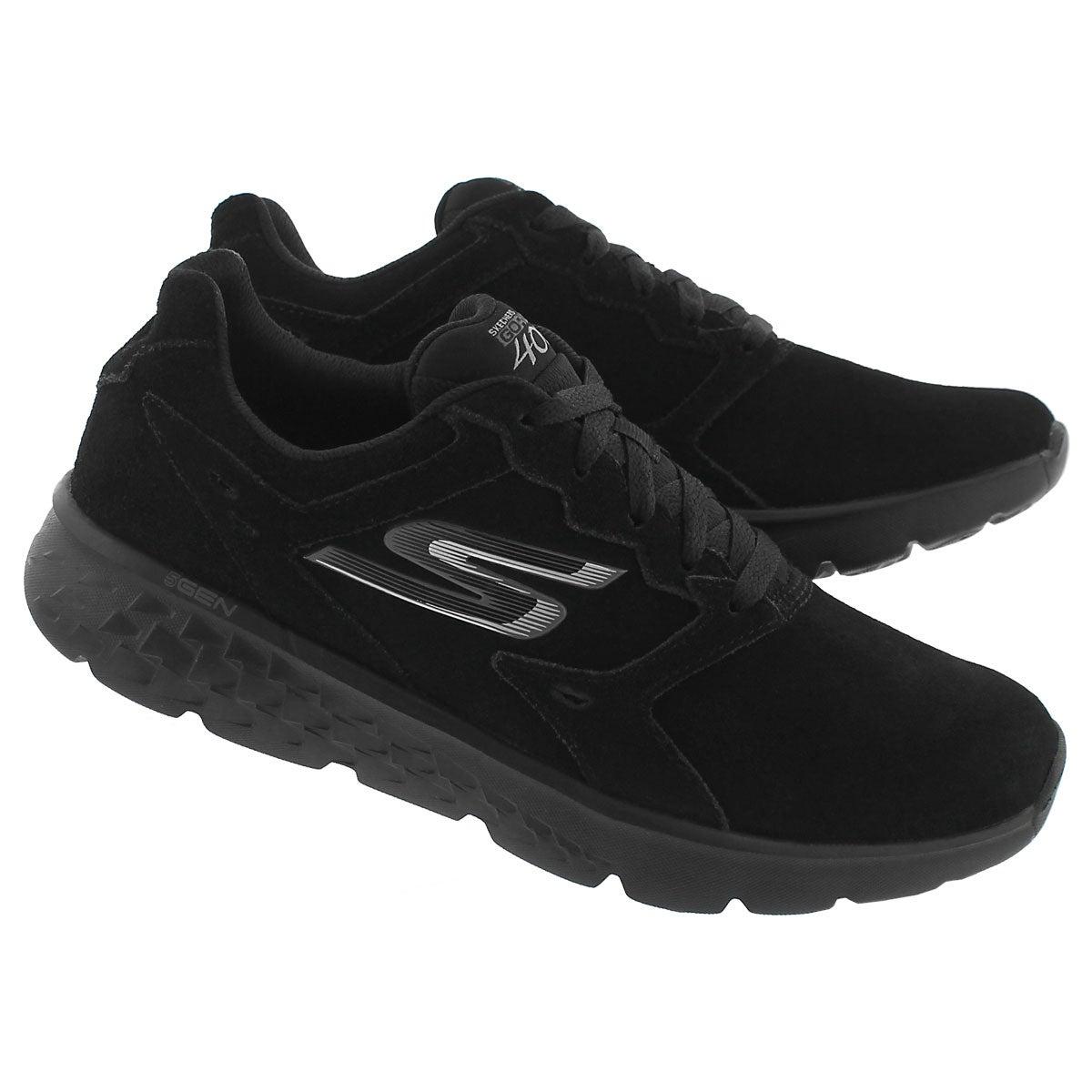 Lds GOrun 400 black lace up running shoe