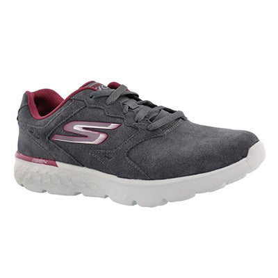 Skechers Women's GOrun 400 charcoal lace up running shoes
