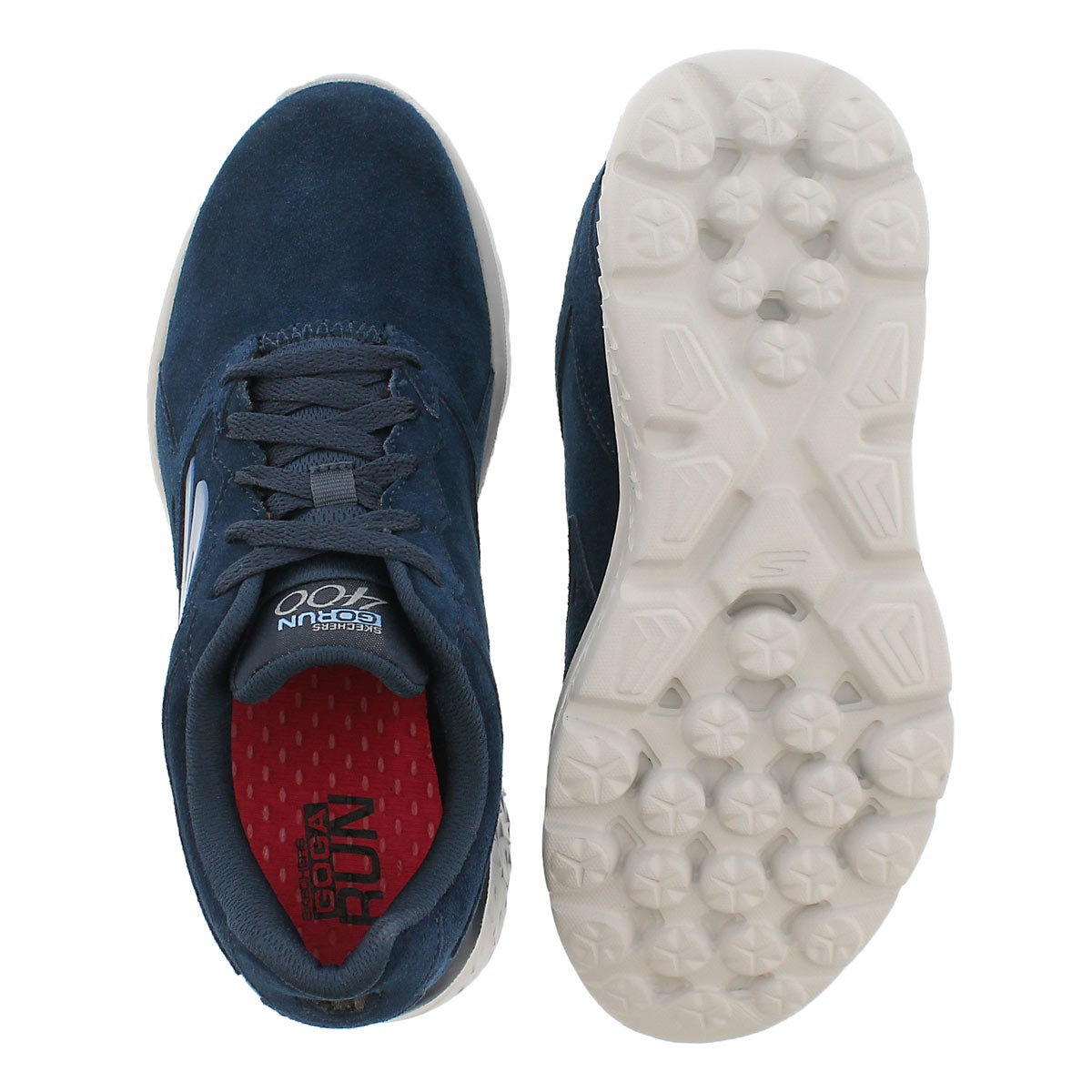 Lds GOrun 400 navy lace up running shoe