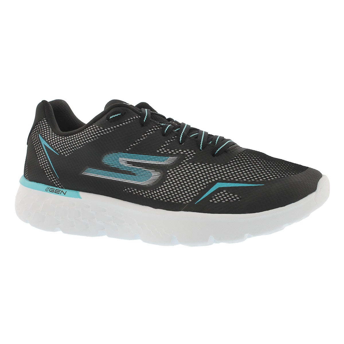 Women's GOrun 400 blk/aqua lace up sneakers