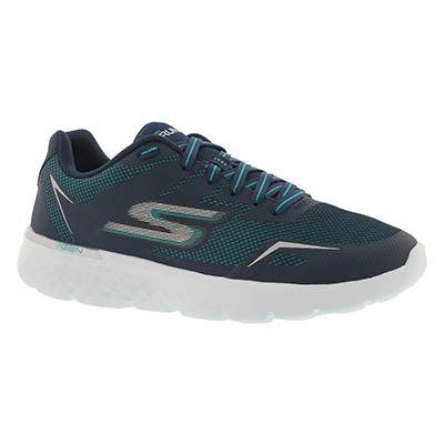 Lds GO Run 400 nvy/aqua lace up sneaker