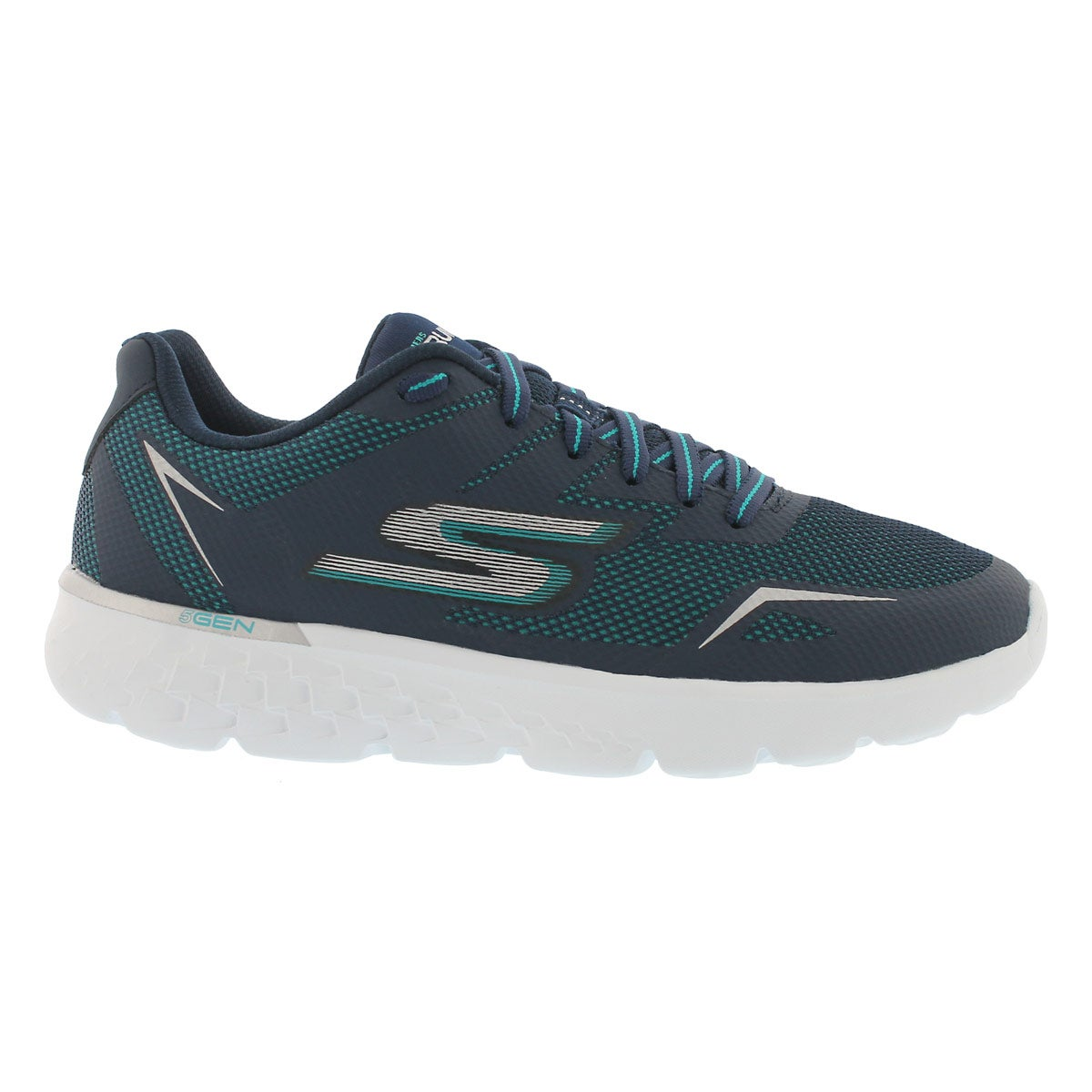 Lds GO Run 400 nvy/aqua lace up sneaker