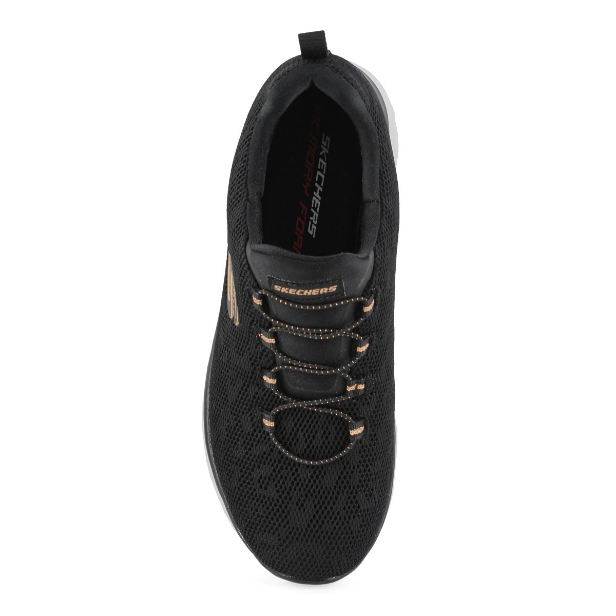 Lds Summits blk/rse gld slip on snkr