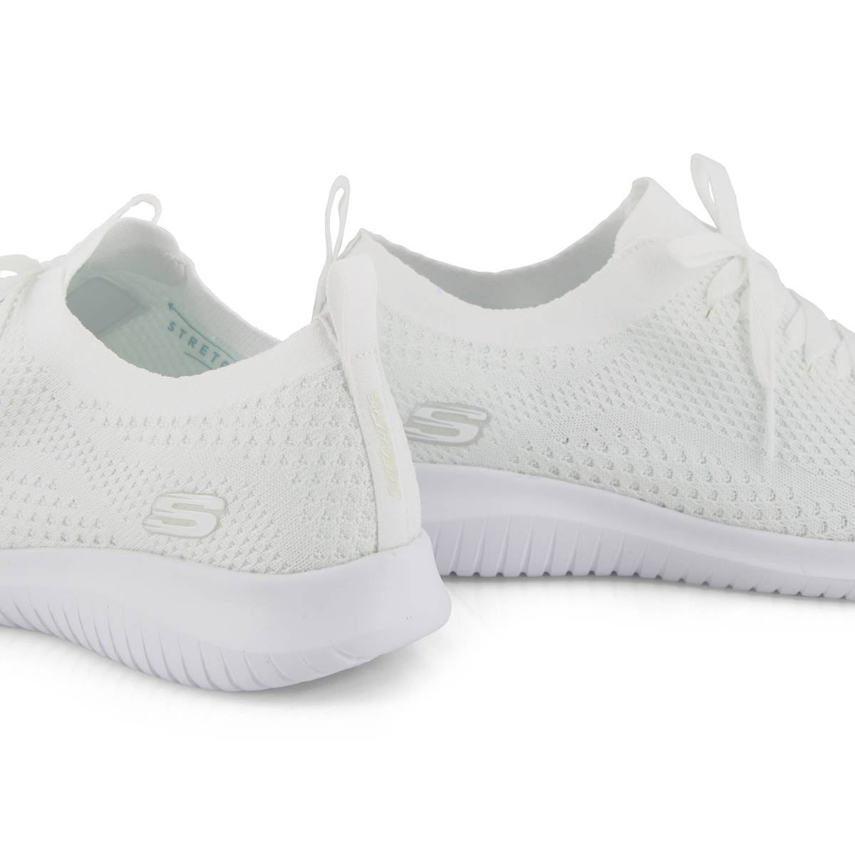 Lds Ultra Flex white slip on sneaker