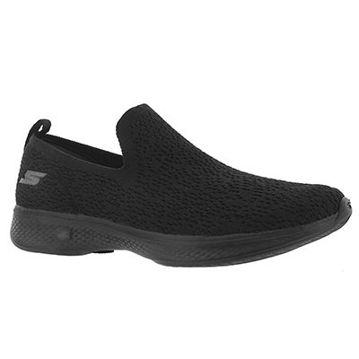 Lds GO Walk 4 black slip on shoe