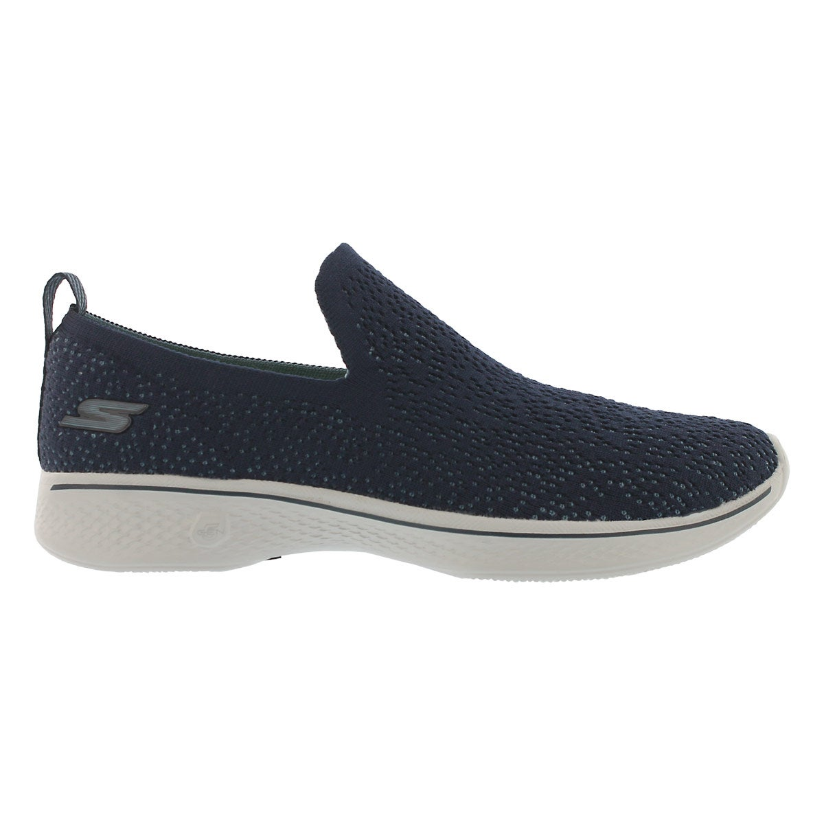 Lds GO Walk 4 navy slip on shoe