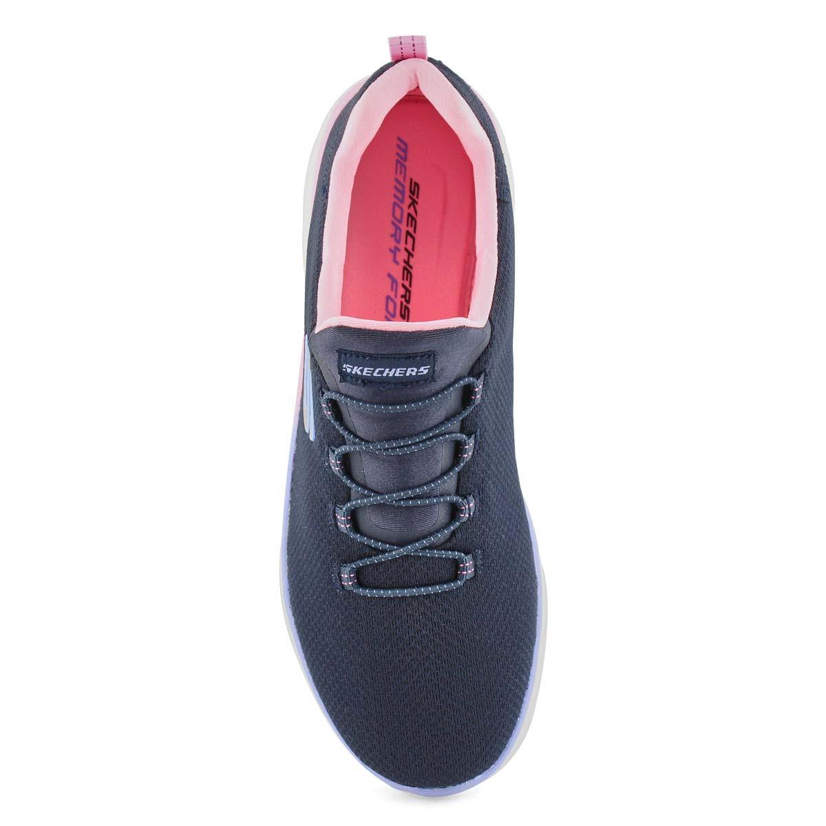 Lds Summits nvy/pnk slip on sneaker