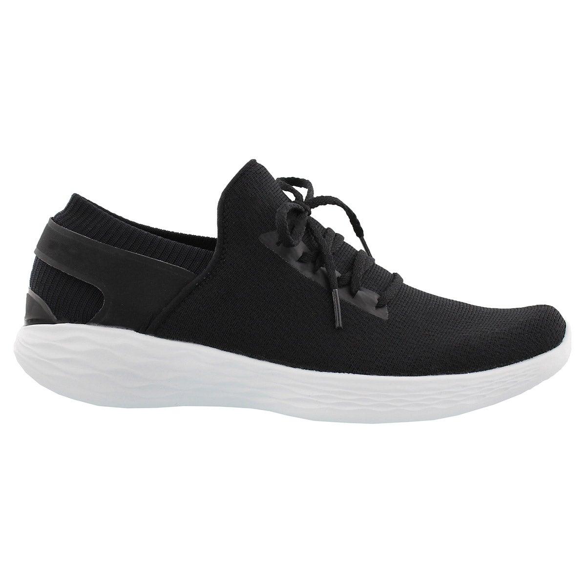Lds You Inspire blk/wht slip on sneaker