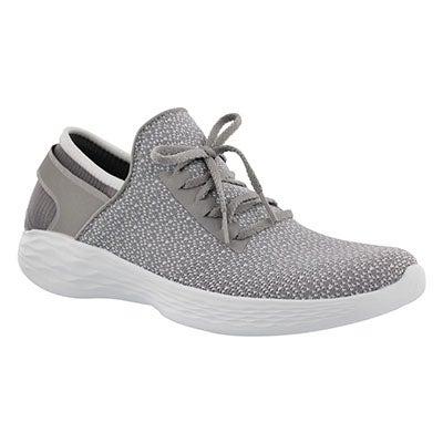 Lds You Inspire grey slip on sneaker