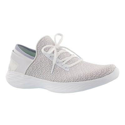Lds You Inspire white slip on sneaker