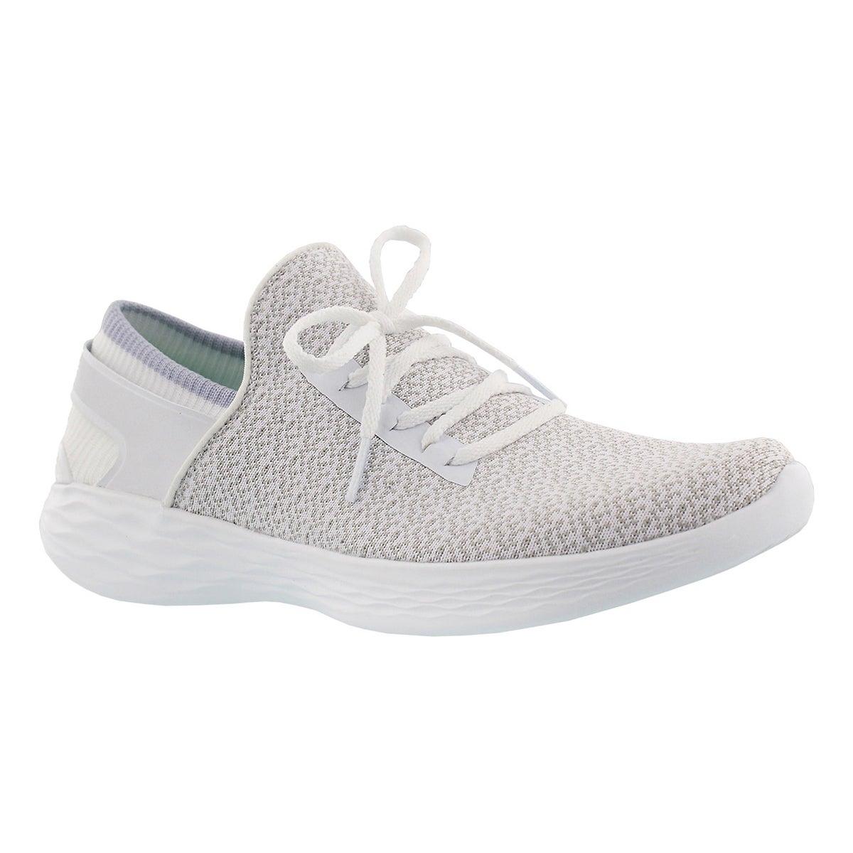 Women's YOU INSPIRE white slip on sneakers