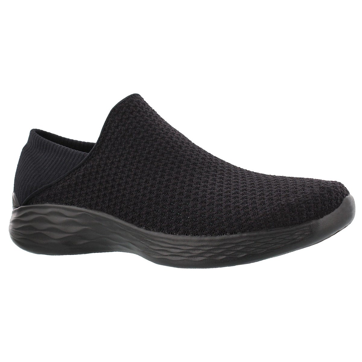 Lds You black slip on walking shoe