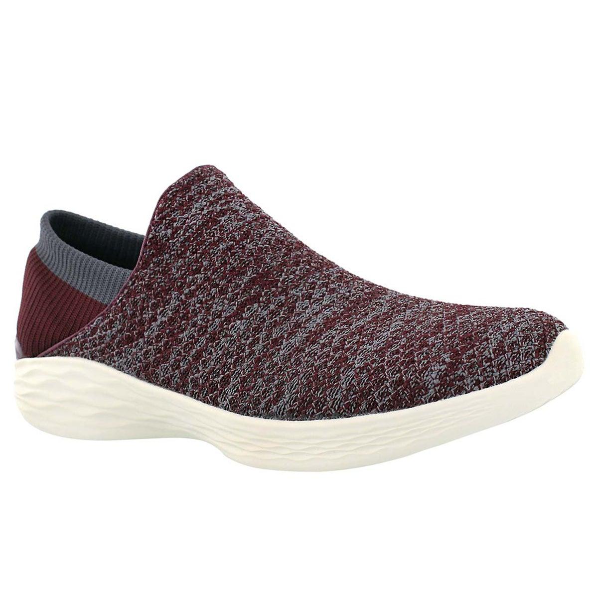 Women's YOU burgundy slip on walking shoes