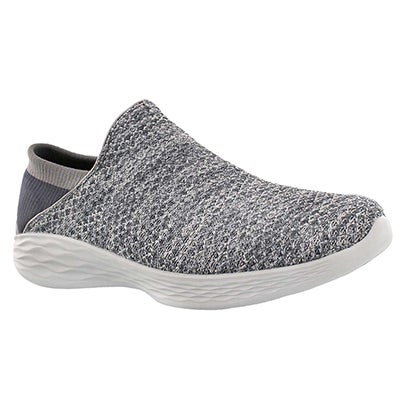 Lds You charcoal slip on walking shoe