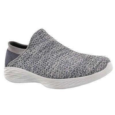 Lds YOU charcoal slip on walking shoe