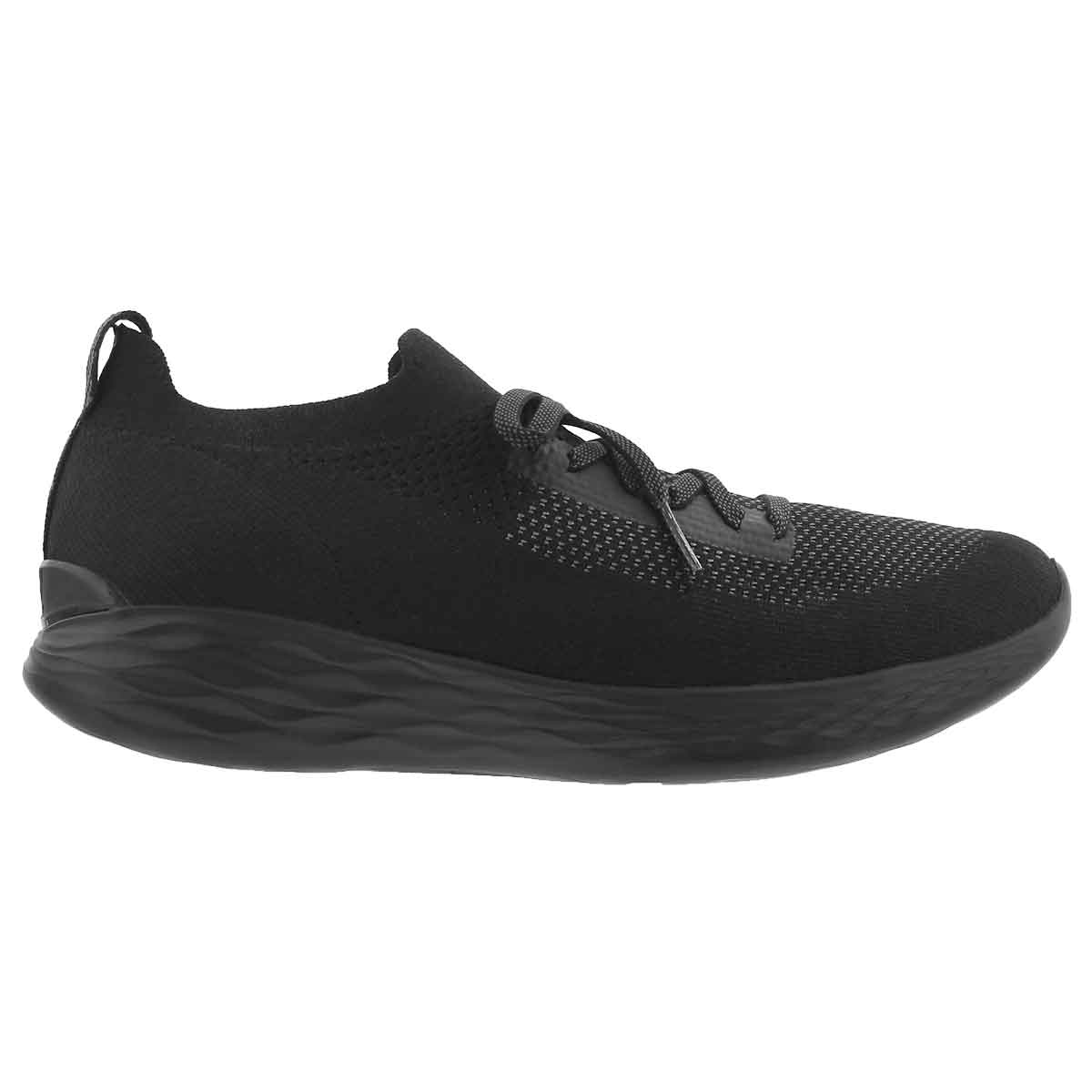Lds You Shine blk/gry slip on sneaker