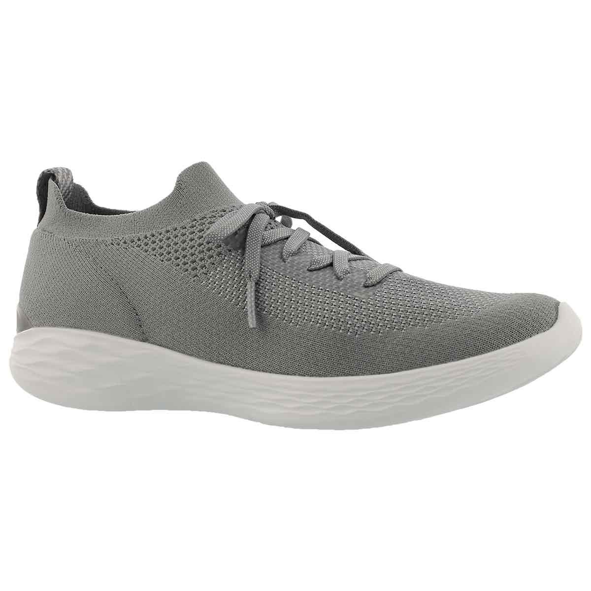 Women's YOU SHINE grey slip on sneakers
