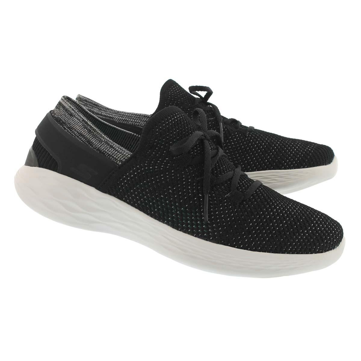 Lds You Spirit blk/wht slip on sneaker