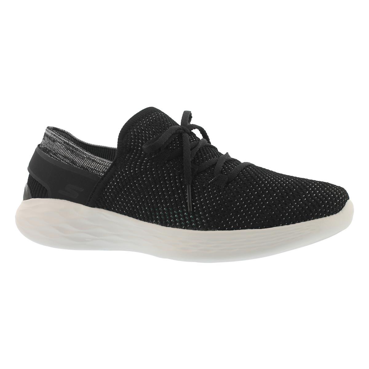 Women's YOU SPIRIT black/white slip on sneakers