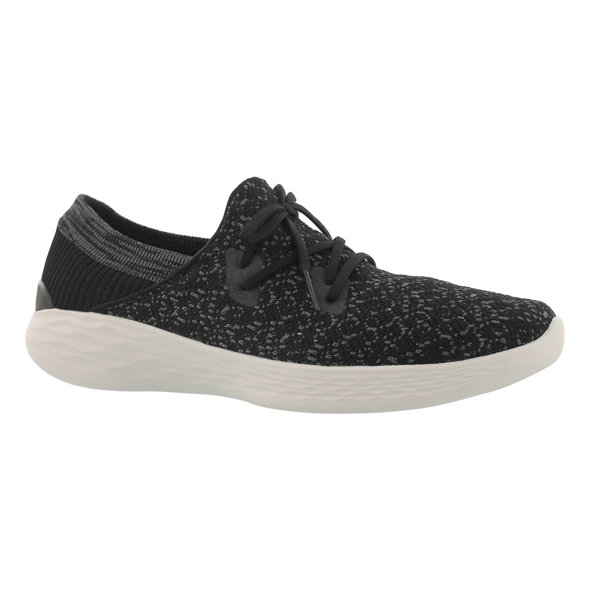 Women's YOU EXHALE black sparkle slip on sneakers