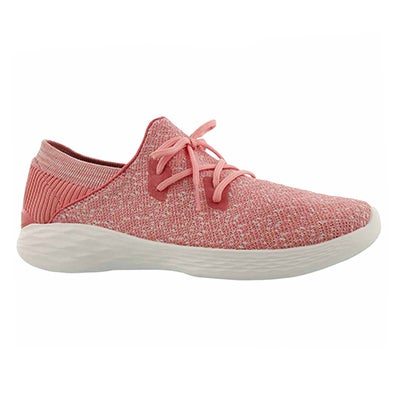 Lds You Exhale pink slip on sneaker
