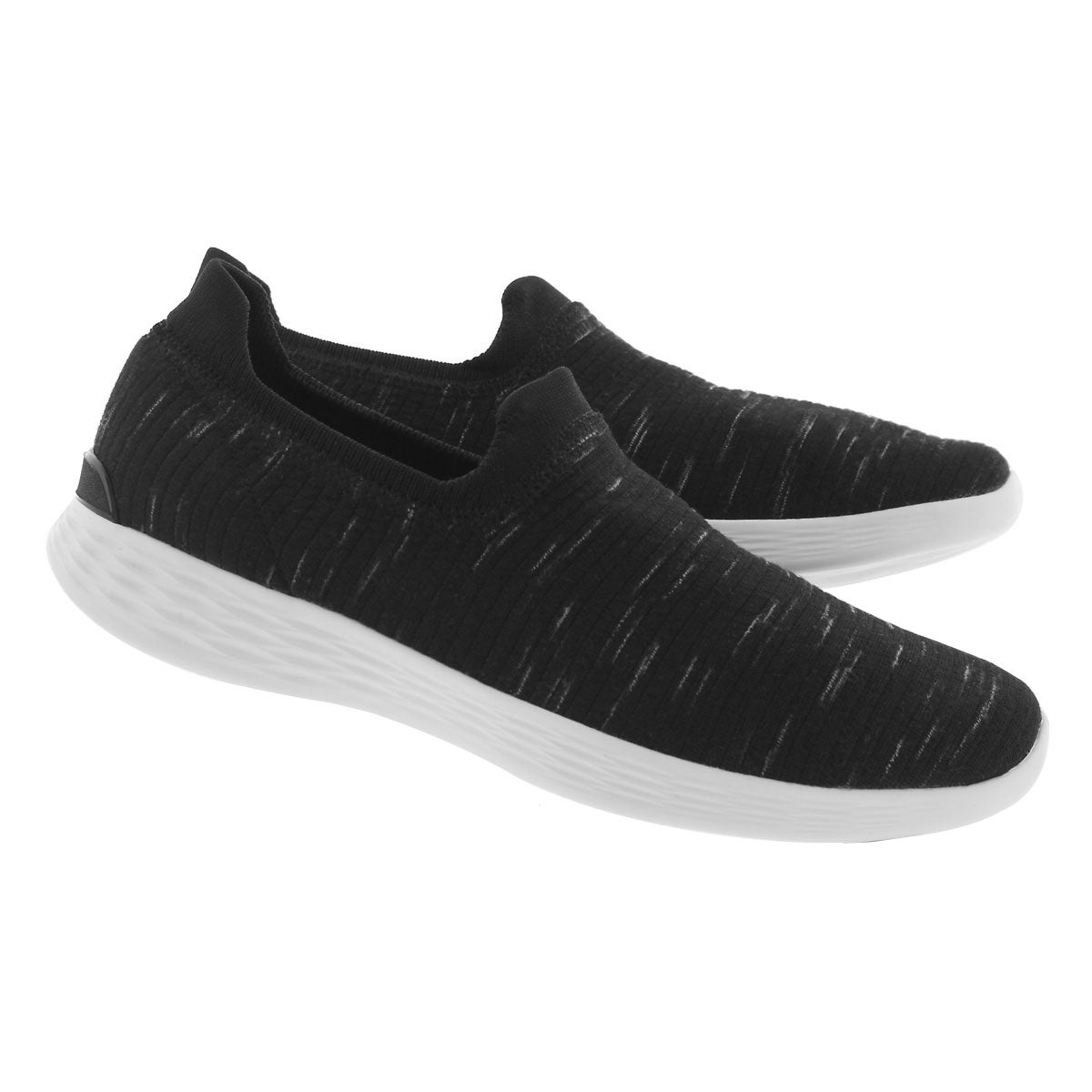 Lds You Define blk/wht slip on shoe