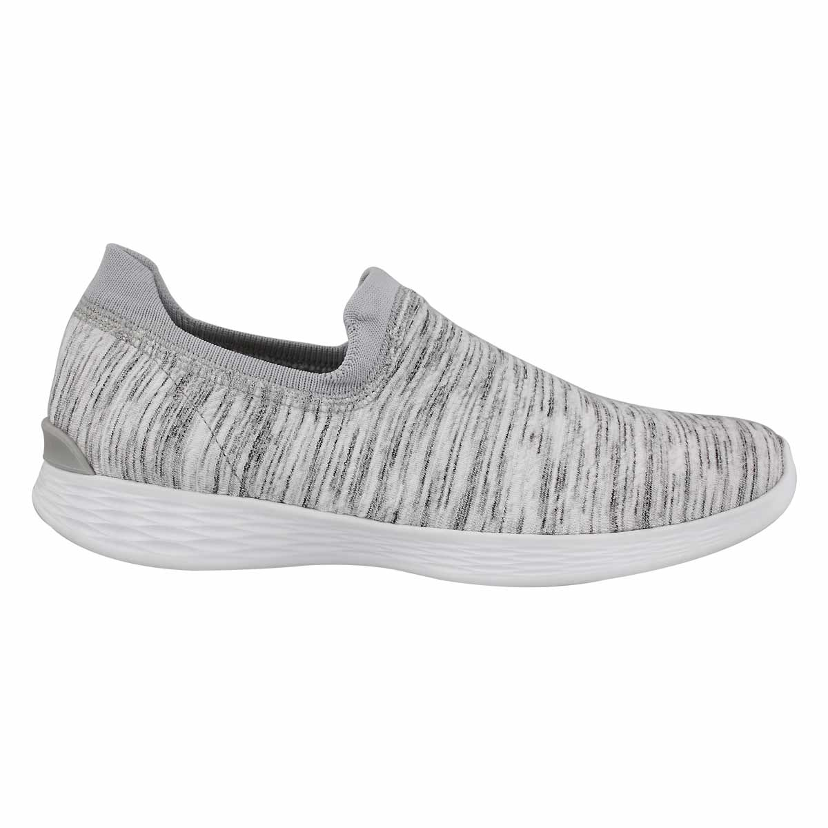 Lds You Define wht/gry slip on shoe