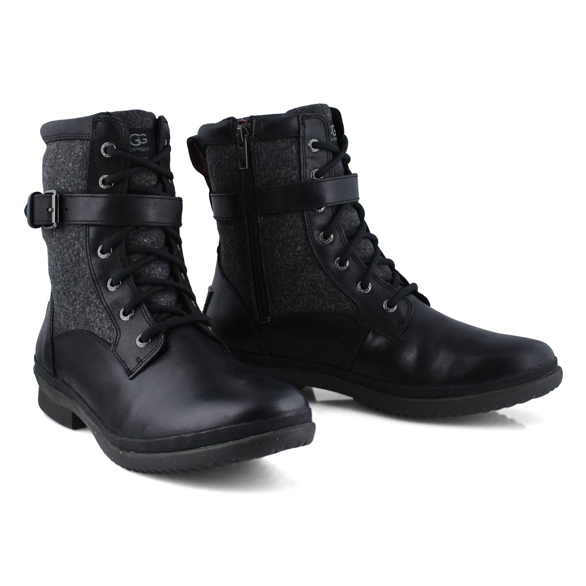 Lds Kesey blk lthr wtpf lace up boot