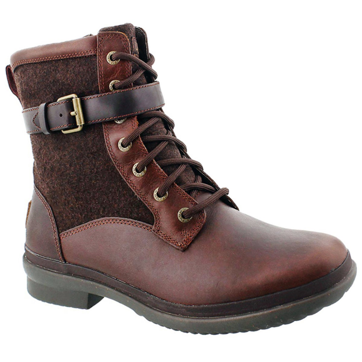 Women's KESEY chestnut waterproof lace up boots
