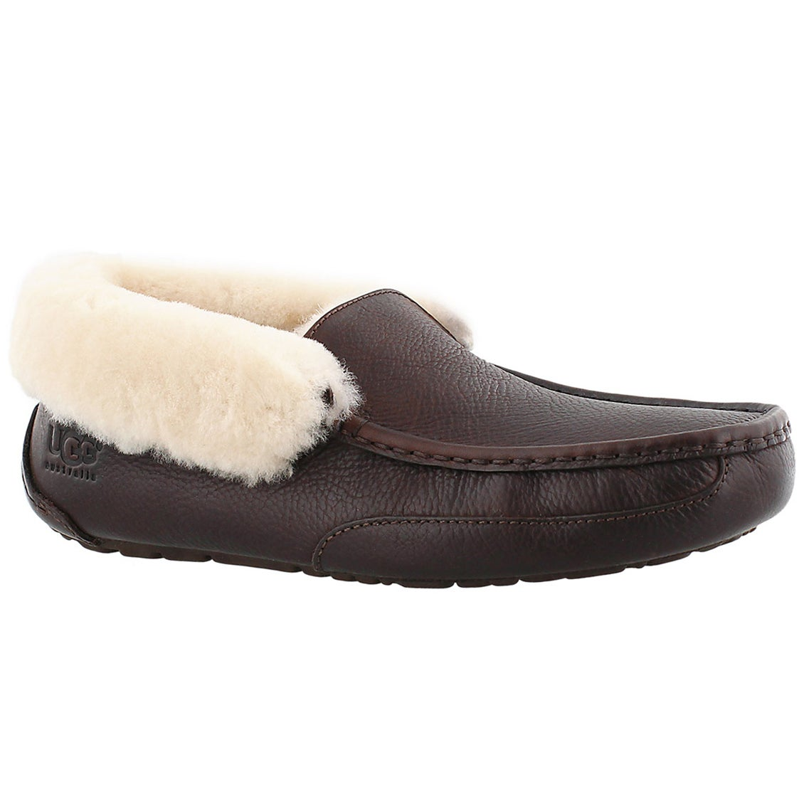Men's GRANTT china tea leather moccasins
