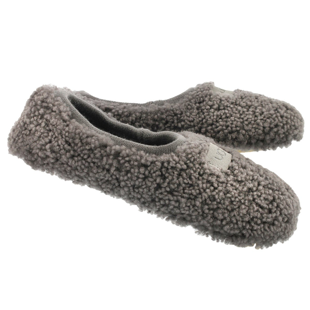 Lds Birche grey sheepskin slipper
