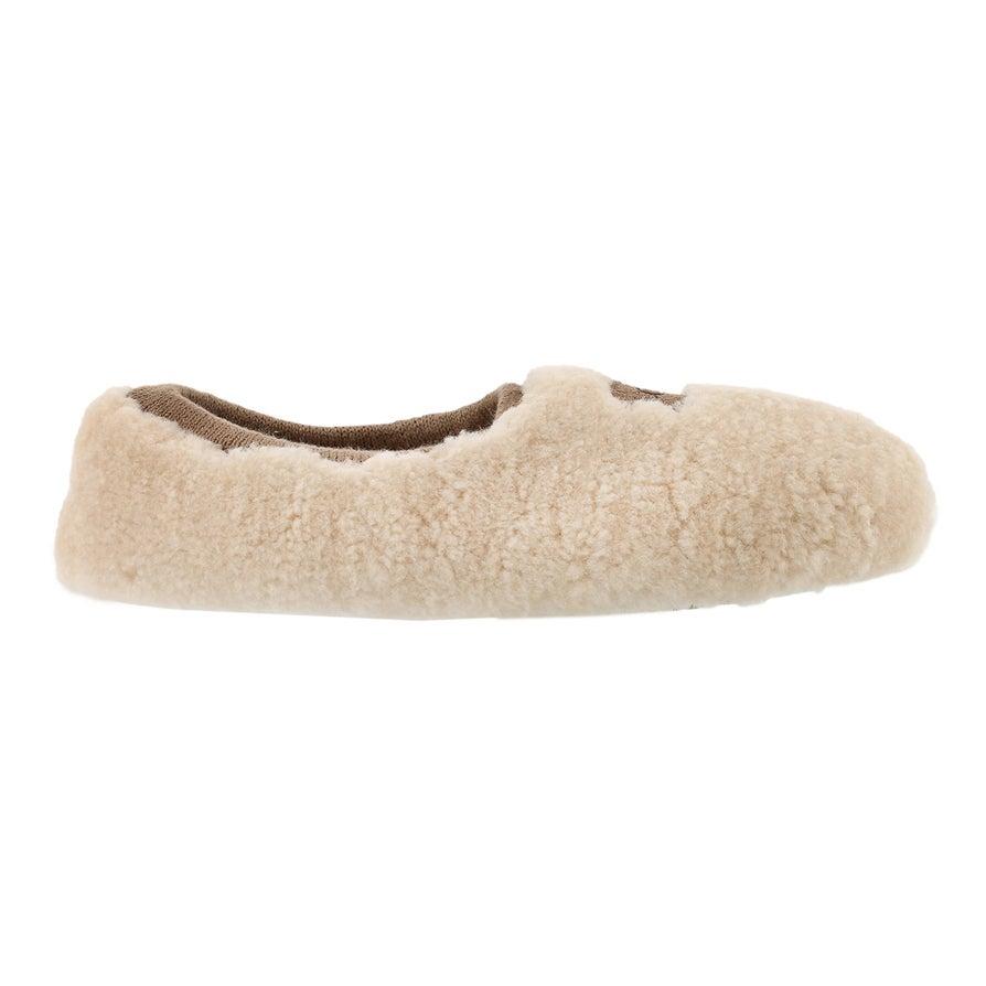 Lds Birche natural sheepskin slipper