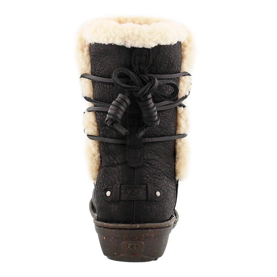 Bottes hiver Akadia, mouton noir, fem