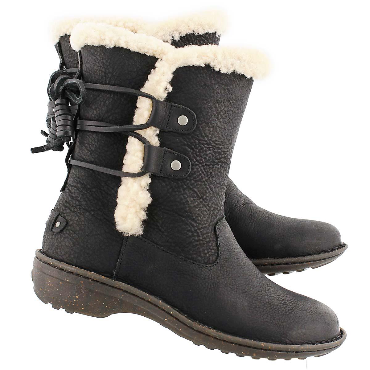 Lds Akadia black sheepskin winter boot