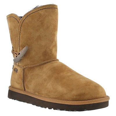 UGG Australia Women's MEADOW chestnut sheepskin short boots