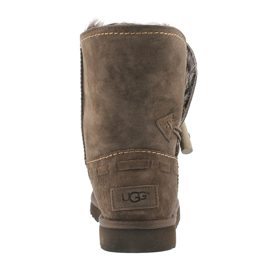 Lds Meadow chocolat sheepskin short boot