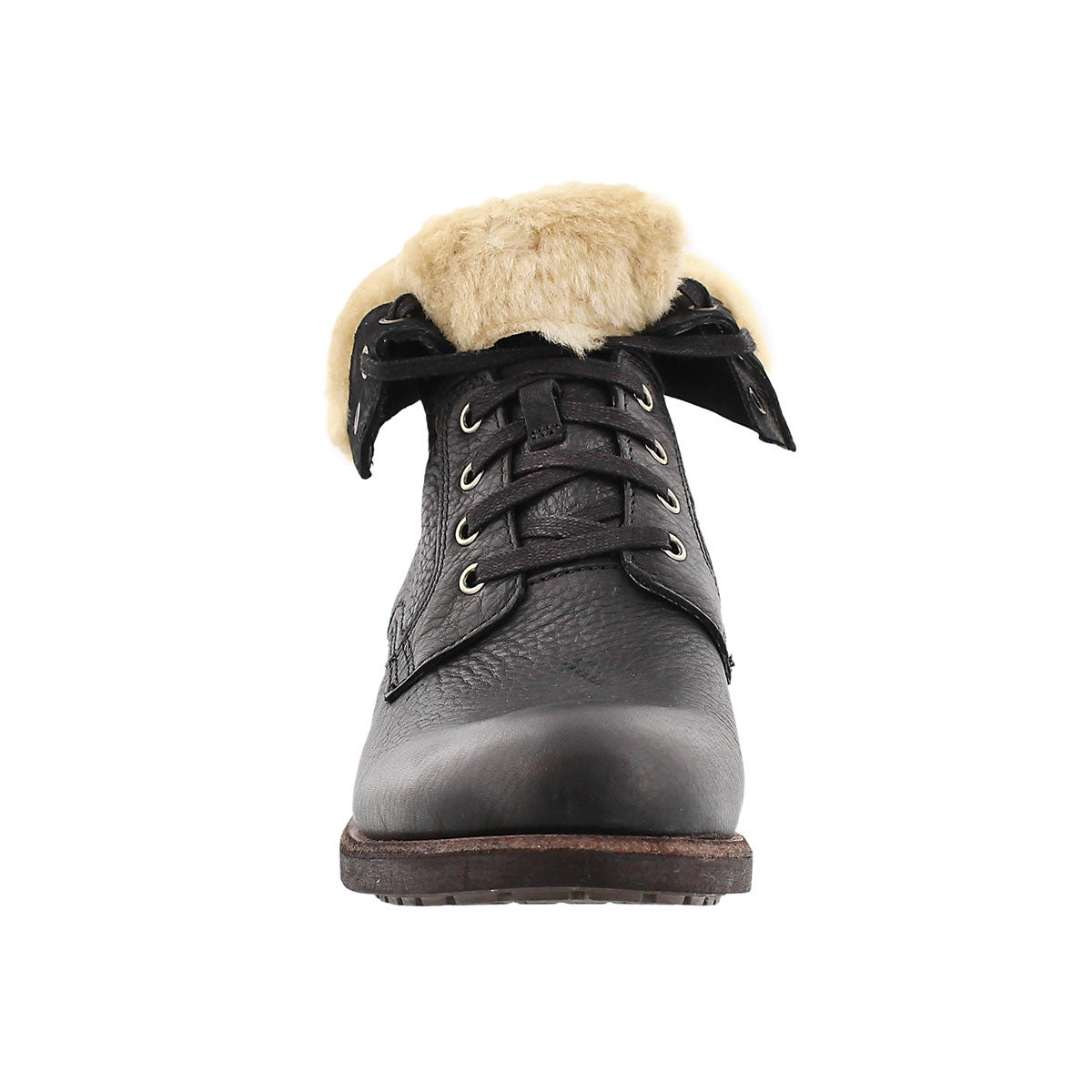 Mns Larus blk lthr casual fold down boot