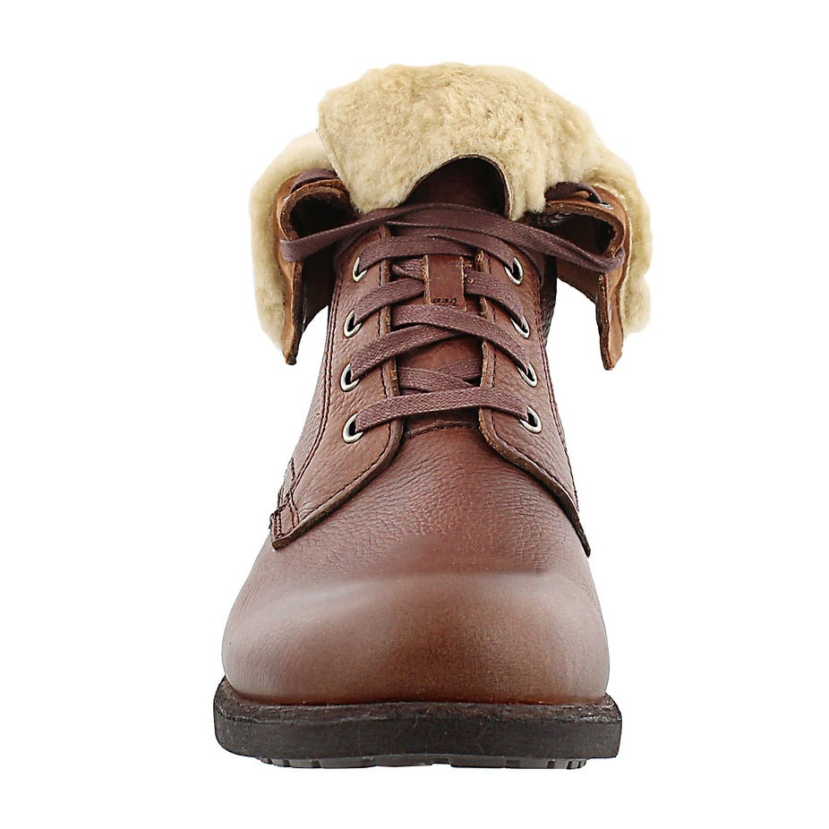 Botte col repli Larus, cuir grizzly, hom