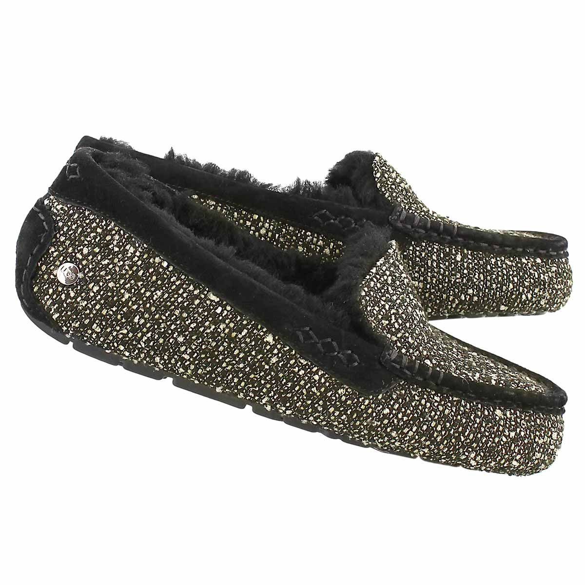 Lds Ansley Fancy blk sparkle moccasin