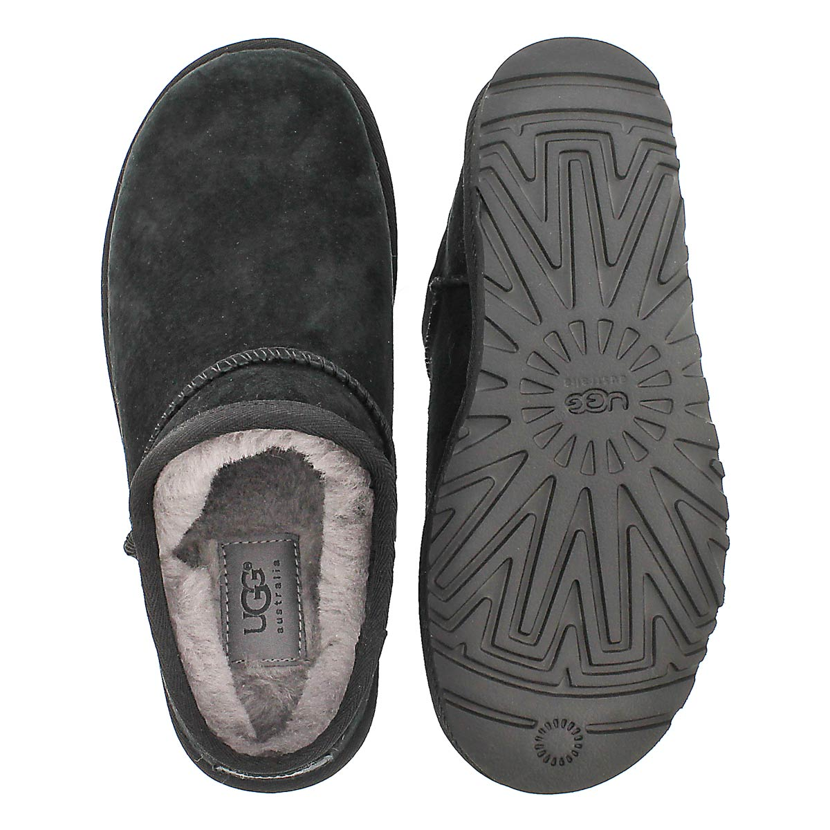 Lds Classic blk sheepskin slipper
