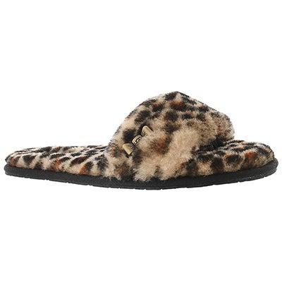 UGG Australia Women's LEOPARD SLIDE sheepskin slippers